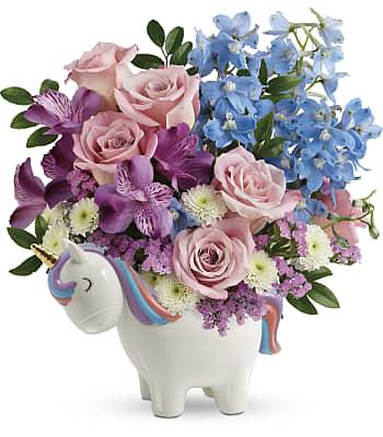 Teleflora's Enchanting Pastels Unicorn Bouquet Flowers