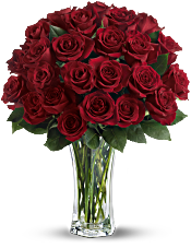 Love and Devotion - Long Stemmed Red Roses Flowers