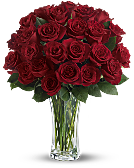Love and Devotion - Long Stemmed Red Roses Bouquet