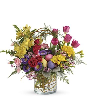 Pop Of Springtime Bouquet Flowers