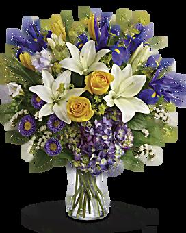 Teleflora's Floral Spring Iris Bouquet Bouquet