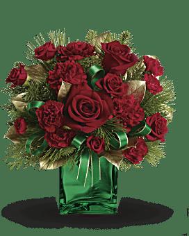 Teleflora's Yuletide Spirit Bouquet Flower Arrangement