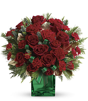 Teleflora's Yuletide Spirit Bouquet Flowers