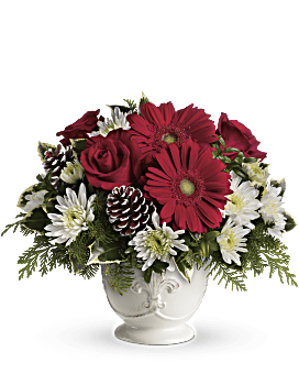 Teleflora's Simply Merry Centerpiece Bouquet