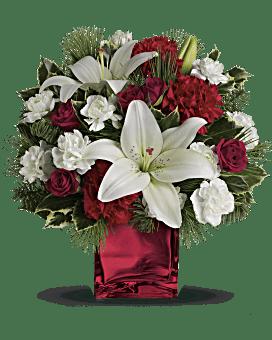 Caroling dans la neige par Teleflora fleur arrangement floral