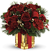 All Wrapped Up Bouquet by Teleflora Flowers
