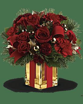 Arrangement floral bouquet Tout emballé de Teleflora
