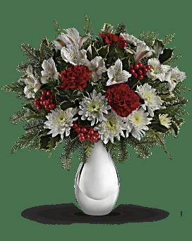 Bouquet Argent et flocons de neige de Teleflora