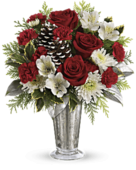 quick view telefloras timeless cheer bouquet bouquet
