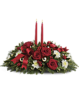 Quick View Holiday Shimmer Centerpiece Flower Arrangement