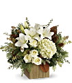 Teleflora's Snowy Woods Bouquet Flowers