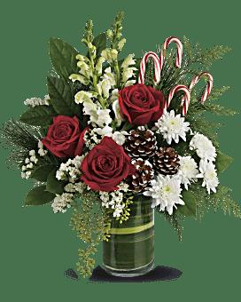 Teleflora's Festive Pines Bouquet Bouquet