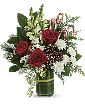 quick view telefloras festive pines bouquet bouquet