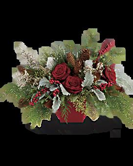 L'hiver fleurit centre de table bouquet
