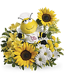 Teleflora's Bee Well Bouquet Flower Arrangement
