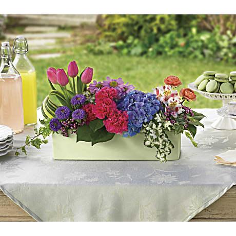 Garden Party Centerpiece Flower Arrangement Teleflora