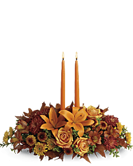 Family Gathering Centerpiece Flower Arrangement
