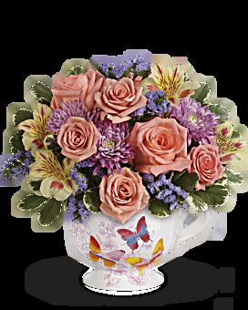 Teleflora's Butterfly Sunrise Bouquet Bouquet