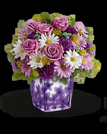 teleflora bouquets dancing violets