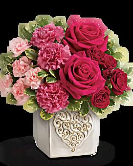 Bouquet Cœur tourbillonnant de Téléflora