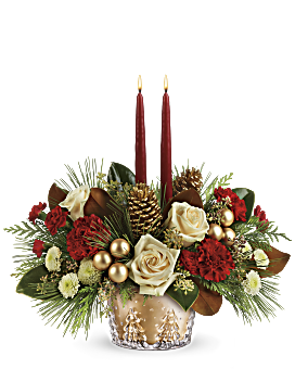 Teleflora's Winter Pines Centerpiece Flower Arrangement