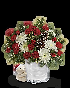 Send a Hug® Bear Buddy Bouquet by Teleflora Bouquet