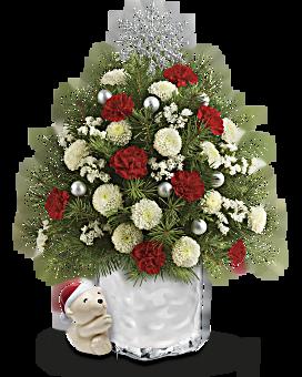 Send a Hug® Cuddly Christmas Tree by Teleflora  Bouquet
