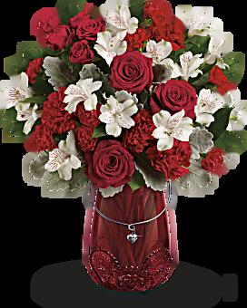 Teleflorau0027s Red Haute Bouquet Bouquet