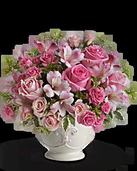Teleflora's Pink Potpourri Bouquet with Roses Flower Arrangement