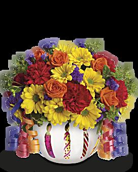 Teleflora's Brilliant Birthday Blooms Bouquet