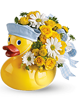 Teleflora's Ducky Delight - Boy Flower Arrangement