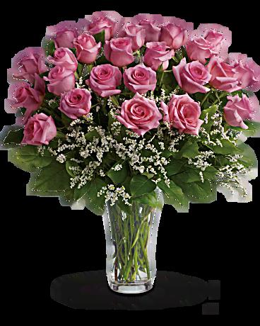 make me blush dozen long stemmed pink roses bouquet