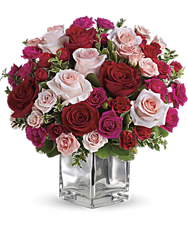 Telefloras Love Medley Bouquet With Red Roses Flower Arrangement