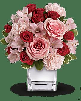 Teleflora's Love That Pink Bouquet with Roses Flower Arrangement