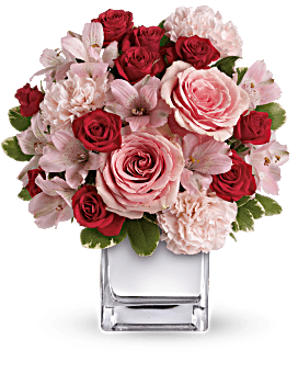Teleflora's Love That Pink Bouquet with Roses Flower Arrangement