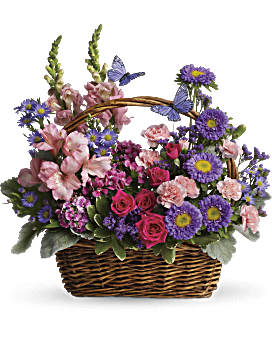 Country Basket Blooms Basket Arrangement