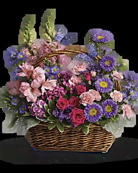 Arrangement floral Panier de fleurs de campagne