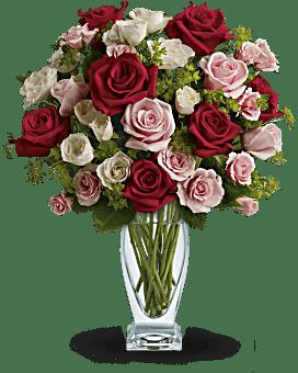 Bouquet Création de cupidon avec roses rouges de Teleflora