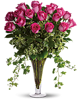 Dreaming in Pink - Long Stemmed Pink Roses Bouquet
