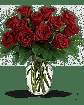 Passion immuable - 12 Bouquet de roses rouges