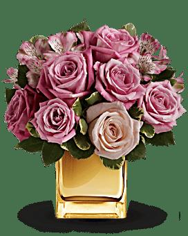 A Radiant Romance by Teleflora Flower Arrangement