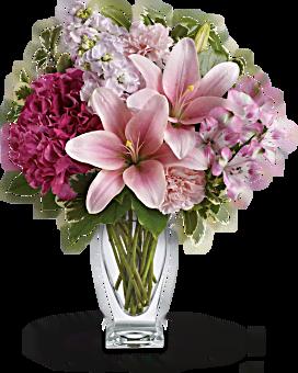 Teleflora's Blush Of Love Bouquet Bouquet