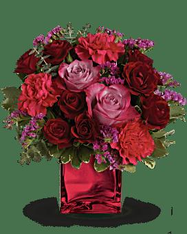 Teleflora's Ruby Rapture Bouquet Flower Arrangement