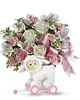 Teleflora's Sweet Little Lamb - Baby Pink Bouquet
