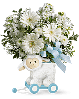 Teleflora's Sweet Little Lamb - Baby Blue Bouquet