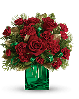 Teleflora's Yuletide Spirit Bouquet Flower Arrangement