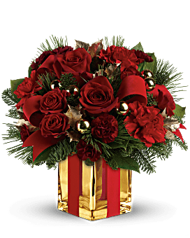 All Wrapped Up Bouquet by Teleflora Flower Arrangement